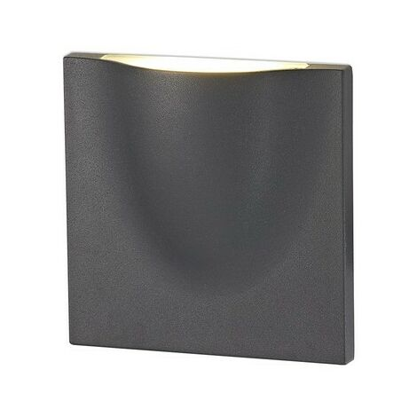 Luminosa Lighting - Wall Down Lamp, 1 x 6W LED, 3000K, 510lm, IP54, Anthracite