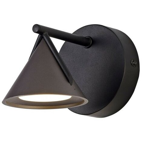Luminosa Lighting - Wall Lamp 1 Light, 1 x 3W LED, 3000K, 110lm, Sand Black, Grey