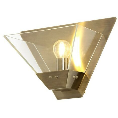 Luminosa Lighting - Wall Lamp, 1 Light E14, Antique Brass