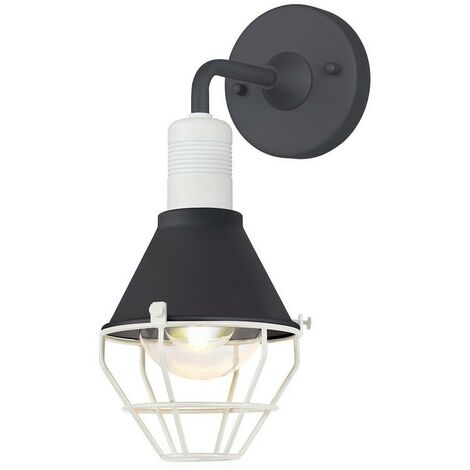 Luminosa Lighting - Wall Lamp, 1 Light E27, IP65, Anthracite, Matt White