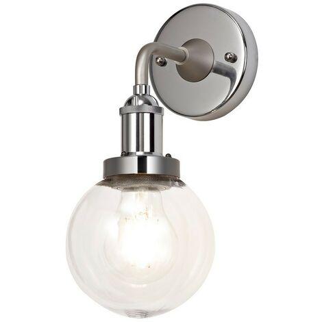 Luminosa Lighting - Wall Lamp 1 Light E27 IP65 Exterior Titanium Silver, Polished Chrome