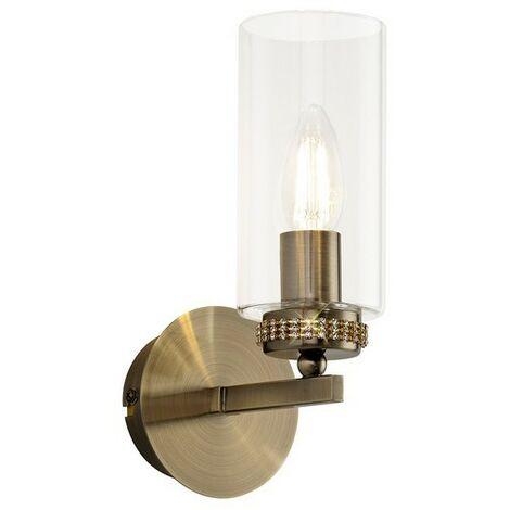 Luminosa Lighting - Wall Lamp Switched, 1 x E14, Antique Brass