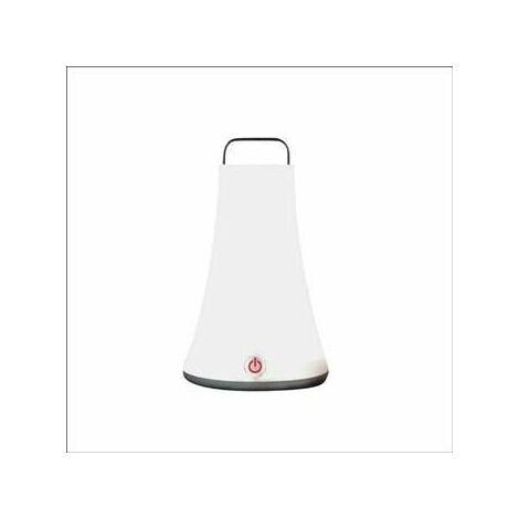 "main image of ""Lumisky T111 Baladeuse Lanterne Lumineuse LED Autonome avec Anse + Crochet en ABS Blanc 14 x 14 x 23 cm"""