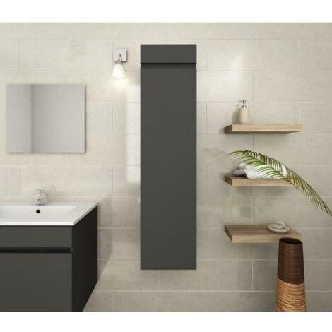 LUNA Colonne de salle de bain L 25 cm - Gris mat Generique