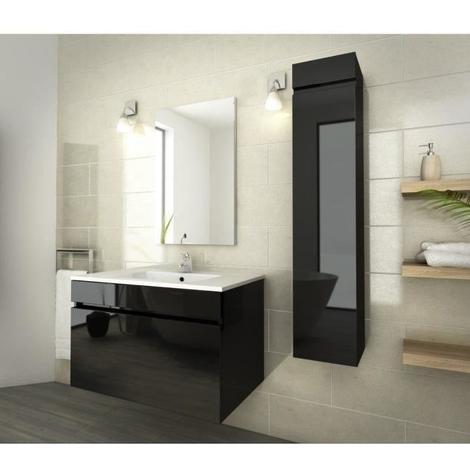 LUNA Ensemble de salle de bain 80 cm noir - 264262