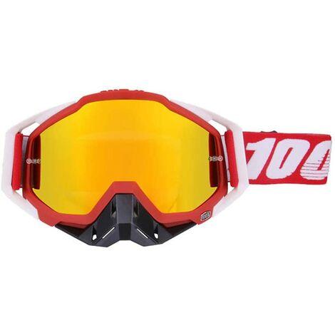 """main image of """"Lunette de Moto Cross Mototourisme Lunettes Goggle d 'Anti-poussière d'anti-buée Coupe-Vent pour Ski Cyclisme Activités Extérieures, B"""""""
