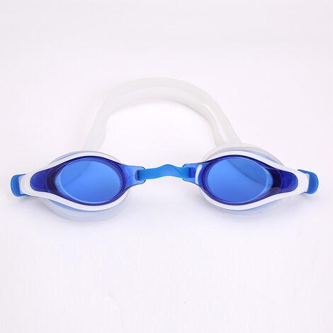 Lunette de Natation EnfantSans Fuite Anti-buée et Protection UV Vision Claire Silicone souple Réglable Lunettes de Piscine pour Garçon et Fille,blue