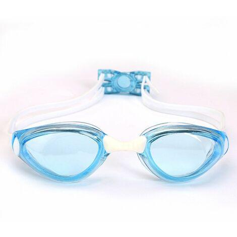 Lunettes de Natation Adulte - Unisexe Lunettes de Piscine - Compétition Anti-UV Etanches Lunettes avec Réglable Double Sangle pour Hommes Femmes Jeunes – blue,a