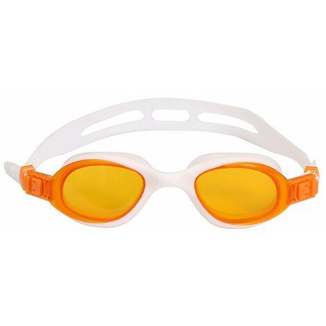Lunettes de Natation,Lunettes de Piscine Adultes Transparents Antibuée Etanches Protection UV Réglables Vision - Idéales pour Hommes et Femmes,blanc