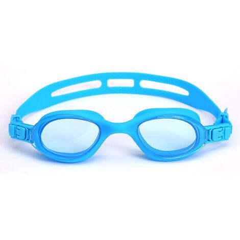 Lunettes de Natation,Lunettes de Piscine Adultes Transparents Antibuée Etanches Protection UV Réglables Vision - Idéales pour Hommes et Femmes,blue,a