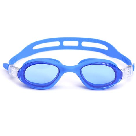 Lunettes de Natation,Lunettes de Piscine Adultes Transparents Antibuée Etanches Protection UV Réglables Vision - Idéales pour Hommes et Femmes,blue,b