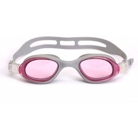 Lunettes de Natation,Lunettes de Piscine Adultes Transparents Antibuée Etanches Protection UV Réglables Vision - Idéales pour Hommes et Femmes,gris