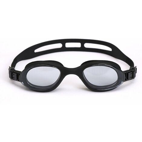 Lunettes de Natation,Lunettes de Piscine Adultes Transparents Antibuée Etanches Protection UV Réglables Vision - Idéales pour Hommes et Femmes,noir