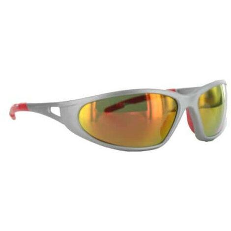 nouvelles variétés la moitié authentique Lunettes de soleil FREELUX LUX OPTICAL Argent mat rouge miroir Catégorie 3