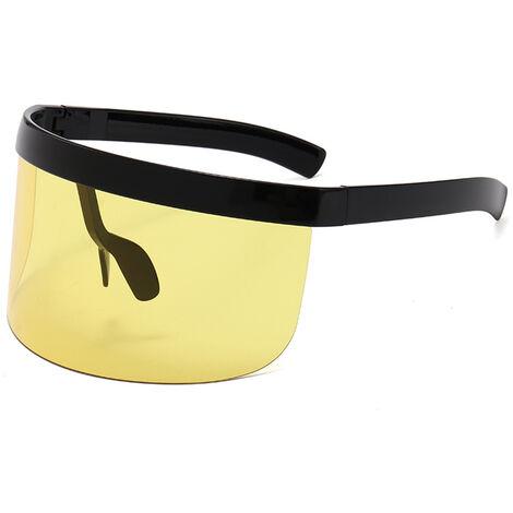 Lunettes De Soleil Mode Half Shield Visage Protection Des Yeux Ultraviolets Resistant A L'Exterieur Cyclisme Lunettes De Soleil
