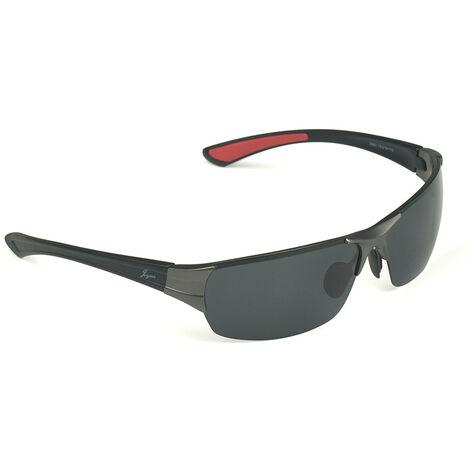 Lunettes de soleil polarisées en alliage d'aluminium et de magnésium à monture tendance, lunettes de soleil de sport en résine haute définition ultra-légères et confortables