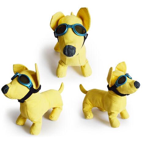 Lunettes de soleil pour chien Lunettes de chien Lunettes pour animaux de compagnie Lunettes de soleil de protection UV Sangle reglable pour petit chien,modele:Bleu