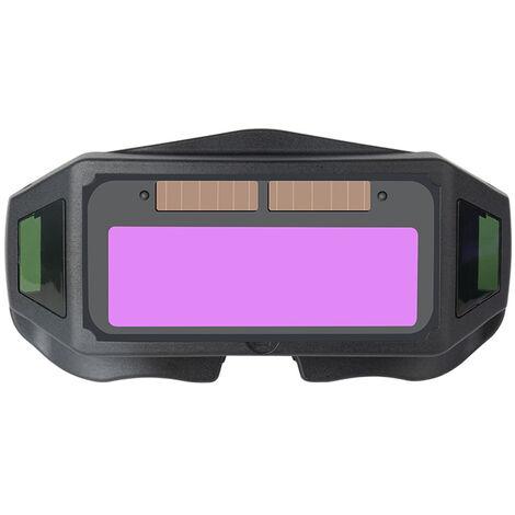 Lunettes de soudage a assombrissement automatique, lunettes de protection anti-eblouissement du soudeur, pile bouton integree