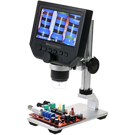 "Lupa LED para microscopio de video digital, 600X, pantalla LCD de 4.3 "", 3.6MP"