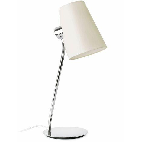 Lupe 1-light chrome table lamp