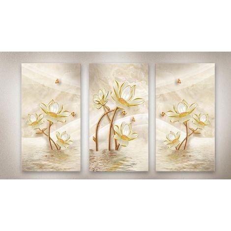 Lupia Quadro su Tela in Legno Canvas Day 38x75 cm Modello Flowers Tele Assortite