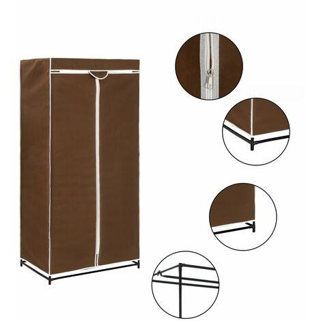 Luro 75cm Wide Portable Wardrobe by Rebrilliant - Brown