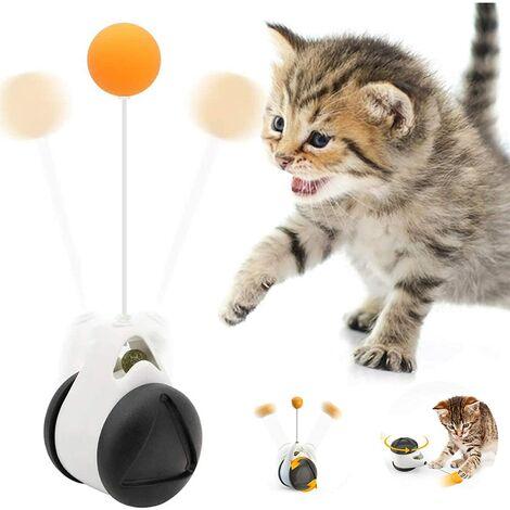 """main image of """"Lustiges Katzenspielzeug, interaktives Indoor-Katzenspielzeug mit Bällen und Spielstock, 360° selbstdrehendes Katzenspielzeug für Haustiere, Katzen, Kätzchen, zum Jagen, Spielen und Essen"""""""