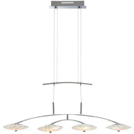Watts Lustre 20 Motif Verre Del En Suspension Hauteur Plafond Luminaire Réglable fYyb67g