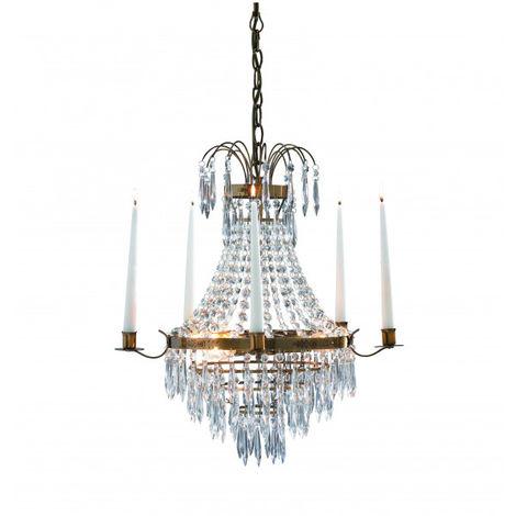 Lustre en cristal KRAGEHOLM antique 3 ampoules