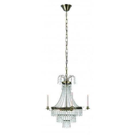 Lustre en cristal MARIELUND antique 3 ampoules