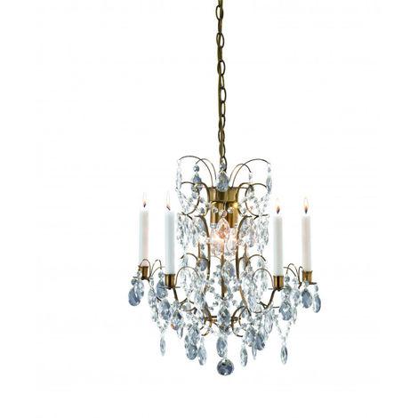 Lustre en cristal RYHOLM antique 3 ampoules