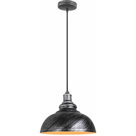 Lustre en Fer Suspension Plafond Eclairage Décor Lampe Suspension Luminaire pour Salon Chambre Couloir