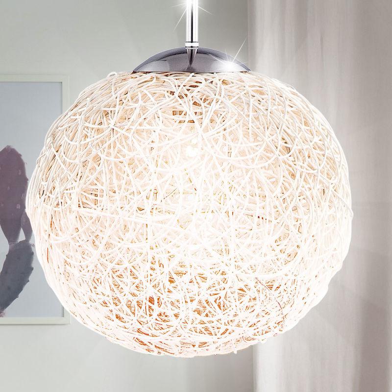 Lustre intemporel nickel mat osier suspension luminaire chambre éclairage  lampe