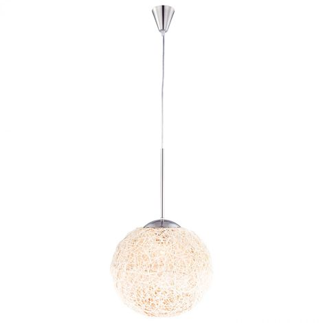 Suspension Luminaire Mat Lustre Chambre Intemporel Nickel Lampe Osier Éclairage WHD29bIEeY