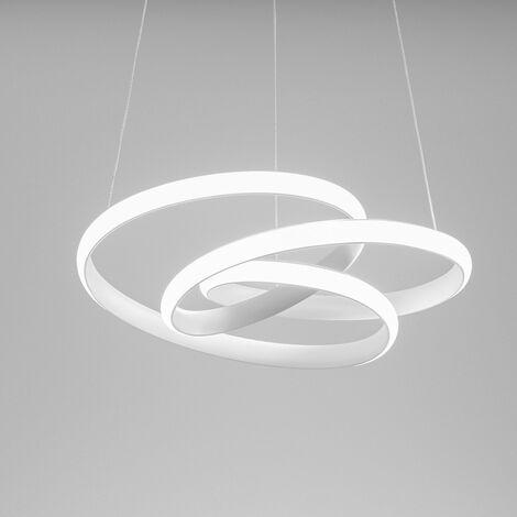 Lustre led gea luce diva sp b 39w led 1950lm 3000 ° k dimmable aluminium blanc intérieur moderne