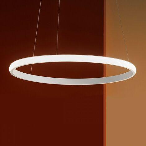 Lustre led gea luce iole s1 28w led 1400lm 3000 ° k dimmable aluminium blanc intérieur moderne