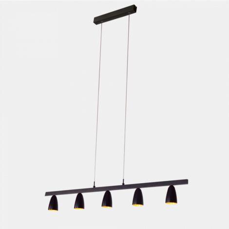 """main image of """"Lustre salle à manger noire et dorée LED - Nebula - Noir et doré"""""""