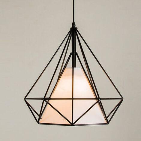 lustre suspension cage diamant lampe suspendue luminaire. Black Bedroom Furniture Sets. Home Design Ideas