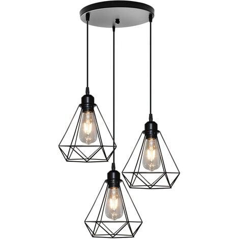 lustre suspension cage en forme diamant lampe plafonnier. Black Bedroom Furniture Sets. Home Design Ideas