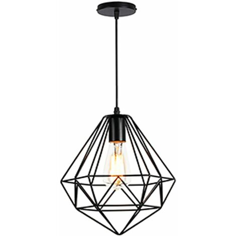 Or Forme Contemporain Suspension Diamant Lustre Métal Luminaire E27 ZikuTOPX