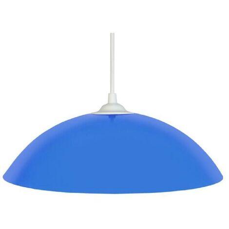 Lustre - suspension Demi-lune E27 25 W Ø29.5 cm Bleu ciel Tosel