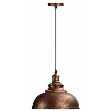 LUSTRE - SUSPENSION E27 Iron Industriel Plafonnier Base à Lustre Lampe Plafond Lumière Suspension cuivre