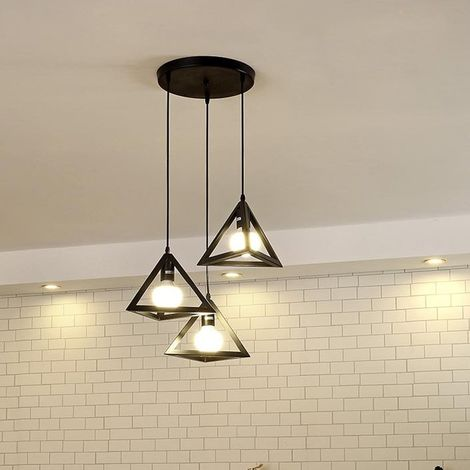 Charmant Lustre Suspension Industriel En M?tal Cage Retro Luminaire E27 Pour Salon  Salle Chambre D?corer Maison Cuisine