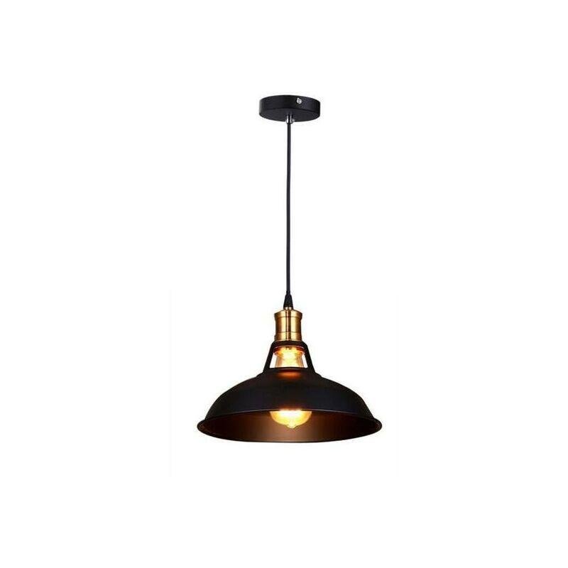 Lustre Suspension Industrielle Vintage E27 Lampe Plafonniers Retro  Abat Jour Pour Cuisine Salle à Manger Salon Chambre Restaurant    7456593540875