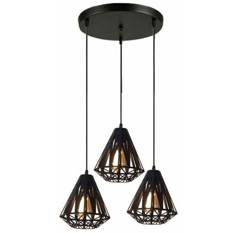 Lustre Suspension Luminaire Vintage Industrielle Suspension
