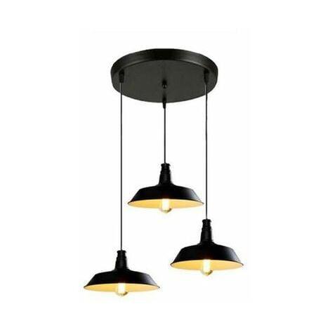 Lustre Suspension Rétro Vintage Plafonnier Lampe Luminaire