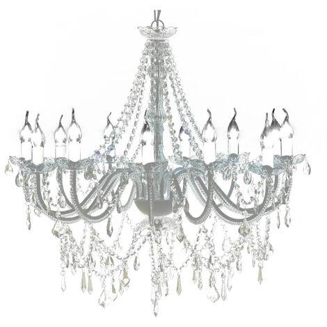 Lustre venitien baroque 12 feux 1600 cristaux