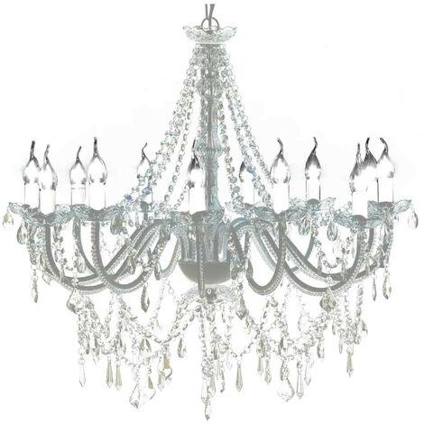 Lustre vénitien baroque 12 feux 1600 cristaux HDV30889
