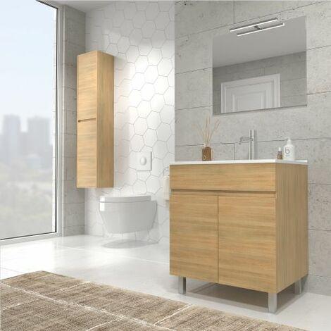 Luup Mueble de baño con lavabo ceramico 80 cms. 2 Puertas