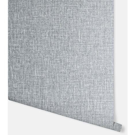 Luxe Hessian Mid Grey Wallpaper - Arthouse - 295400